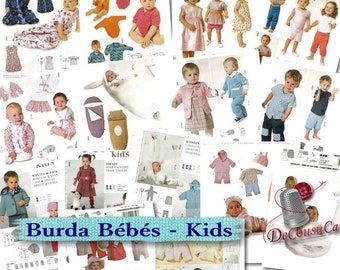 5 models, Burda, Baby, 3 years, liquidation, pattern new, uncut, (Reg 6.99-12.99)
