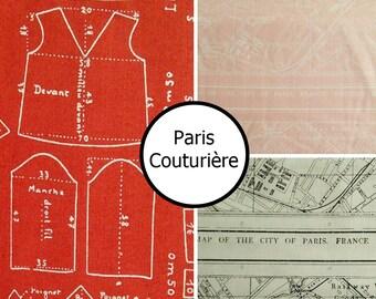 3 prints, Paris, Couturière, Riley Blake, 100% cotton