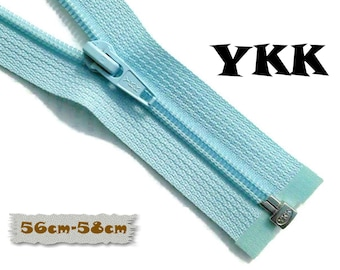 YKK, SEPARABLE, 56cm, 58cm, Light Blue, Zipper, USA Slider, Clothing, ZS01
