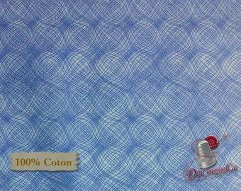 Blue, Mesh, P & B Textiles, #26703, multiple quantity cut in one piece, 100% Cotton