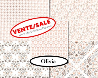 50%, 5 prints, 1 of each, Olivia, Camelot Fabrics, (18.80-55.05)