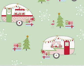 Christmas Adventure, Riley Blake Designs, Christmas fabric 100% cotton, #10730 SWEETMINT