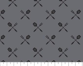 Spatula, fork, 21200604, col 02, Grill Master, Camelot Fabrics, cotton, cotton quilt, cotton designer