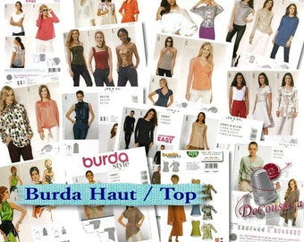 14 models, Burda, Women, 6-24, bolero, top, blouse, t-shirt, new, uncut, (Reg 6.99-14.99)