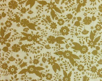 Flourish, 3240204, col 03, Ciana Bodini, Camelot Fabrics, flower, taupe, multiple quantity cut in one piece, 100% Cotton
