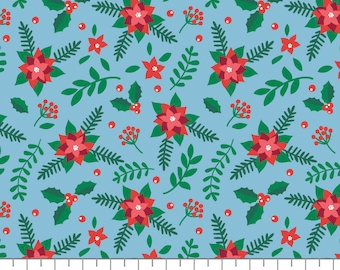 Poinsettias, It's Always Unicorn Season, 89191104, col 02, fabric, cotton, quilt cotton