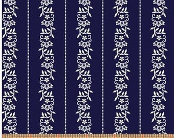Stripe Navy, Somerset, 6798, col 55, Benartex, cotton, cotton quilt, cotton designer