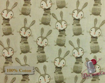 Rabbit, Édtion Fabric, multiple quantity cut in one piece, Cotton,