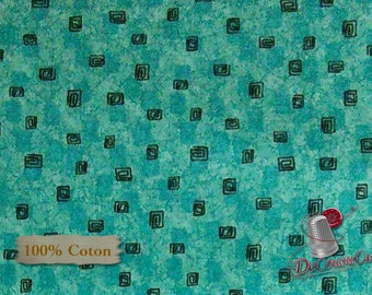 Studio 8, Turquoise, Quilting Treasures, multiple quantity cut in one piece, 100% Cotton
