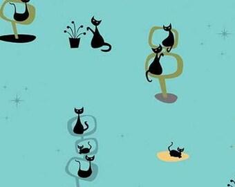 Black Cat, Cottage, Mod Meow, 10280, Riley Blake, cotton quilt, cotton designer, (Reg 3.76-21.91)