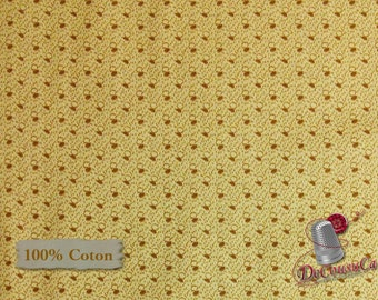 Beige, brown, Sarah Friench's, Washington Street Studio, 26827, multiple quantity cut in one piece, 100% Cotton, (Reg 2.39-17.29)