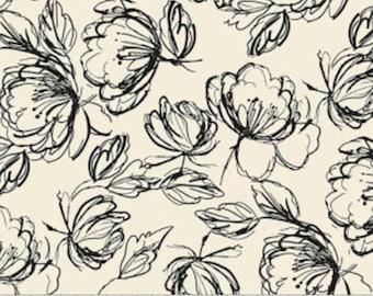 Etched Floral, 71190405, col 01, Oxford, Laura Ashley, 100% Cotton