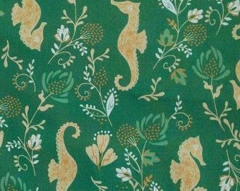 Hyppocampe, 21180301, col 03, Beachside Pretty, Oceanic Garden, Camelot Fabrics, cotton, cotton quilt, cotton designer