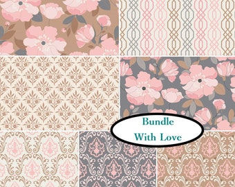 7 prints, With Love, Camelot Fabric, 1 of each print