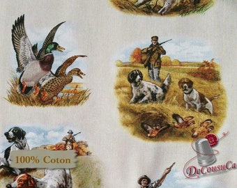 Hunting dog, pheasant, 8401, Elizabeth's studio, Realtree, multiple quantity cut in 1 piece, 100% Cotton, (Reg 2.99-17.99)