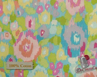 Flowers, spring, Dena Design, Free Spirit, multiple quantity cut in one piece, 100% Cotton, (Reg 2.99-17.99)