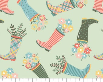 Rain boot, Wish for Rain, 89191002, col 02, Camelot Fabrics, 100% Cotton