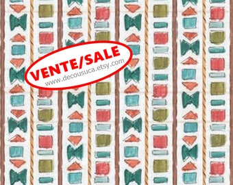 SALE, Geo stripe, Lake Moments, 66180105J, Camelot Fabrics, 100% Cotton, (Reg 3.76-21.91)