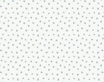 Crocodiles, Tiny triangles, blue, white, 9140705-03, Camelot Fabrics, multiple quantity cut in one piece, Cotton