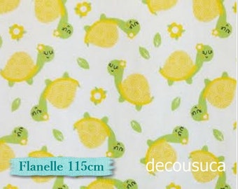 Flannel, Turtle, yellow, white, multiple quantity cup in a pièce, Flannel 100% high quality cotton