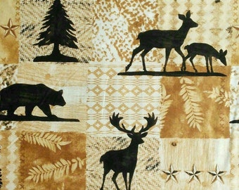 Forest animal, Pinewood, Riley Blake, 7750, fabric, cotton, quilt cotton
