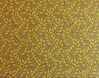 Flourish, 3240207, col 01, Ciana Bodini, Camelot Fabrics, leaf, beige, multiple quantity cut in one piece, 100% Cotton