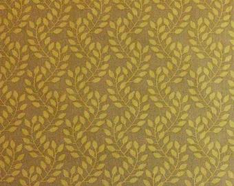 Flourish, 3240207, col 01, Ciana Bodini, Camelot Fabrics, leaf, beige, multiple quantity cut in one piece, 100% Cotton, (Reg 3.99 - 17.99)