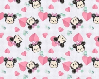 Minnie, coeur, Minnie Hearts, Disney, Springs Creatives, CP65909, 100% Cotton, quilt cotton