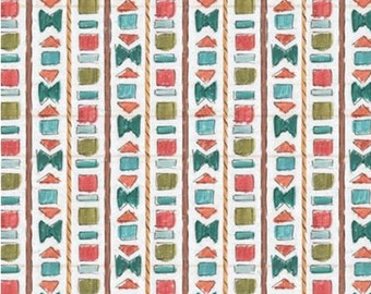 Geo stripe, Lake Moments, 66180105J, Camelot Fabrics, 100% Cotton, (Reg 2.99-17.99)