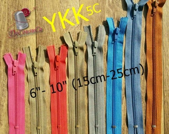 "25%, YKK, 5C, 6""-10"", (15cm- 25cm), nylon, perfect for wallets, clothing, repair, creation, Z07, (Reg 2.99)"