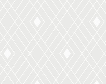 Opalescent, White, Fretwork, 2143504, col 01, Camelot Fabrics, multiple quantity cut in one piece, 100% Cotton,  (Reg 3.99 - 17.99)
