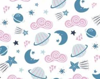 Planets, white, 61180302, col 01, Celestial Zodiac, Camelot Fabrics, cotton, cotton quilt, cotton designer
