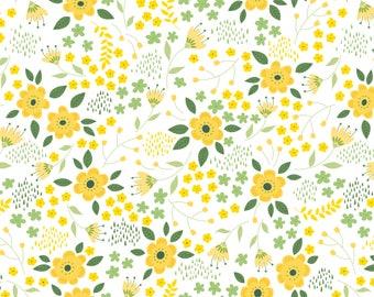 Bright Side, flower, 2240903, col 01, Camelot Fabrics, multiple quantity cut in 1 piece, Cotton, (Reg 3.99 - 17.99)