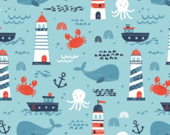 Beyond the sea, Nautical, Camelot Fabrics, 89190601, col 02, cotton, cotton quilt, cotton designer