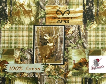 Realtree, roe, Scottish, 10153, Sykel, multiple quantity cut in one piece, 100% Cotton, (Reg 2.99-17.99)