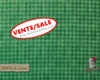50%, Houndstooth basics, teal, 8624, Henry Glass, multiple quantity cut in one piece, (Reg 3.76-21.91)