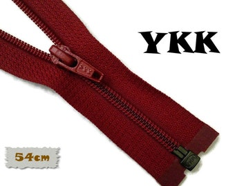 "YKK, SEPARABLE, 54cm, (21 ""), Wine Red, Zipper, USA Slider, Clothing, ZS01"