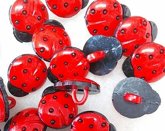 6- buttons, 17mm, Beetle, vintage, BF14,