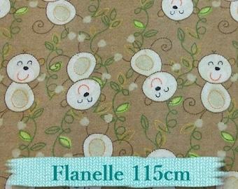 """Fat quarter, 18""""X22"""" = 45cm X 55cm, Flannel, Mouse, beige, 100% cotton"""