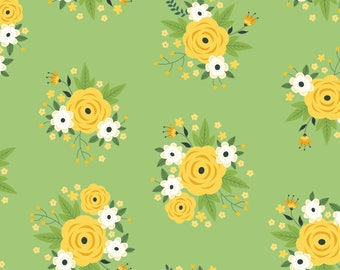 Bright Side, flower, 2240901, col 02, Camelot Fabrics, multiple quantity cut in 1 piece, Cotton, (Reg 3.99 - 17.99)