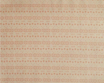 Tini Tribal, coral, 21180906, col 01, Peek-A-Boo, Camelot Fabrics, 100% Cotton