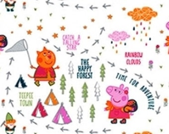 Peppa Pig, Happy Forest, Springs Creatives, CP64658, 100% Cotton, quilt cotton