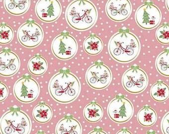 Christmas Adventure, Riley Blake Designs, Christmas fabric 100% cotton, #10732 PEONY