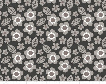 Flower, gray, 9140604, col 03, Mama & Me, Camelot Fabrics, multiple quantity cut in one piece, 100% Cotton, (Reg 2.39-17.29)