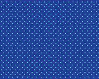 Spot, Royal Blue, 830, Makower, cotton, cotton quilt, cotton designer