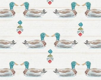 Ducks, Lake Moments, 66180103J, Camelot Fabrics, 100% Cotton, (Reg 2.99-17.99)