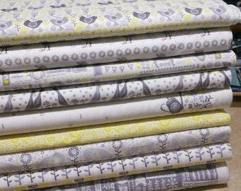 Bundle, 9 prints, Village Life, Camelot Fabrics, Cotton, quilt cotton