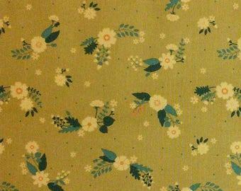 Flourish, 3240205, col 03, Ciana Bodini, Camelot Fabrics, flower, taupe, multiple quantity cut in one piece, 100% Cotton, (Reg 3.99 - 17.99)