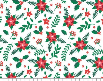 Poinsettias, It's Always Unicorn Season, 89191104, col 01, fabric, cotton, quilt cotton