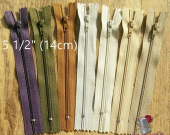 14cm, curseur #3, 5 1/2 inchs, perfect for wallets, clothing, repair, Z14